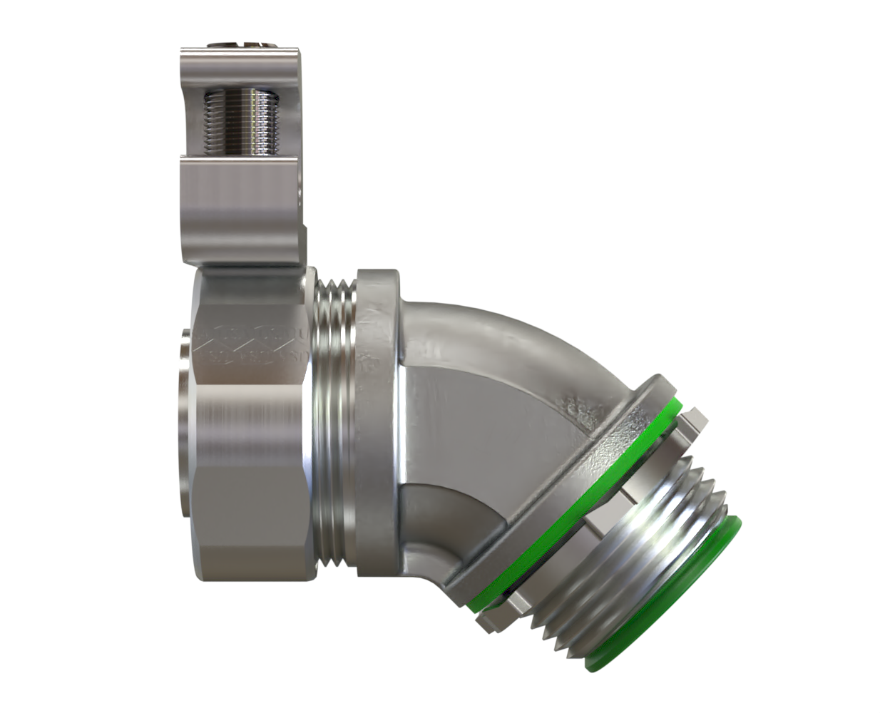 Liquid Tight 45 Fitting Seal Tight with ground lug