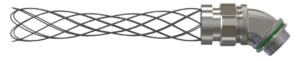 Liquid Tight Connector 45deg with wire mesh strain relief