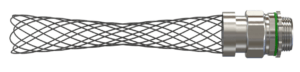 Liquid Tight Connector with wire mesh strain relief