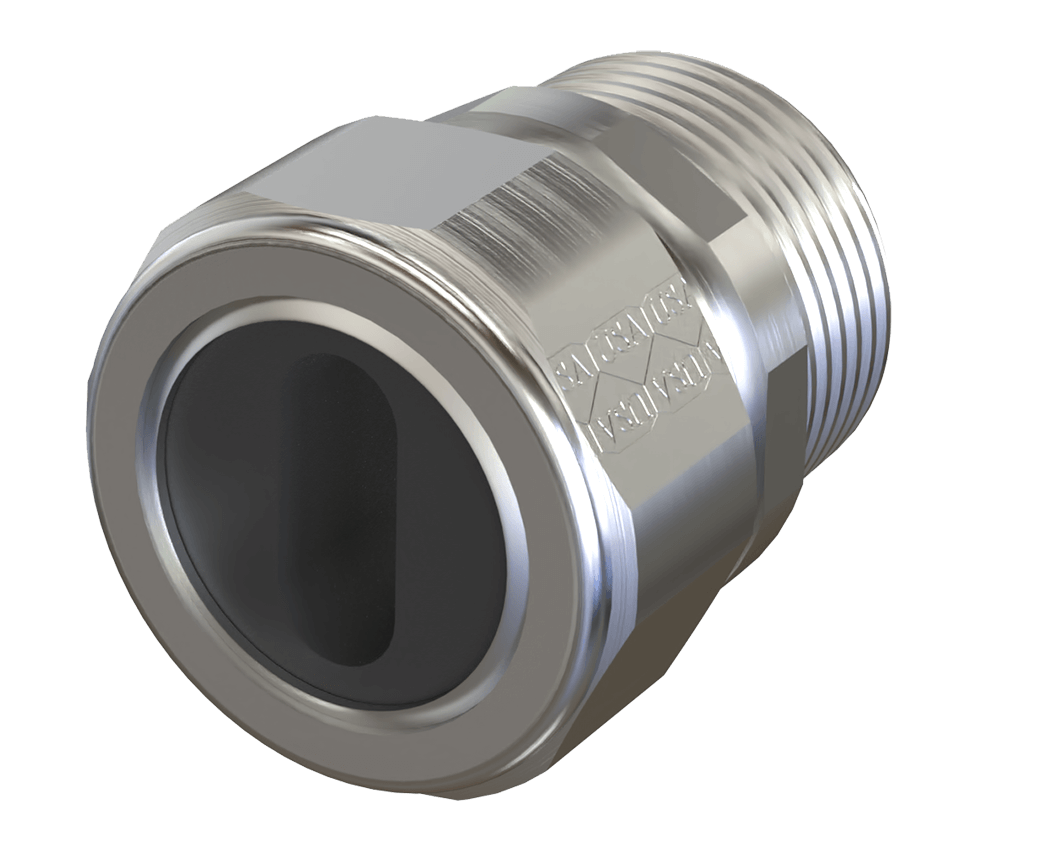 UF Connector Steel USA Front View American Fittings